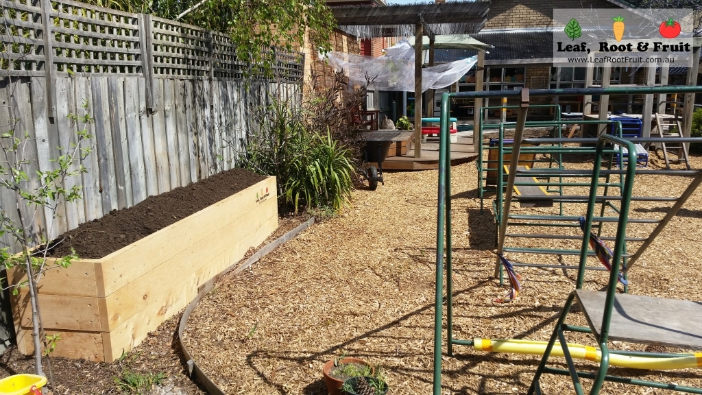 Raised Garden bed made out of cypress sleepers Melbourne
