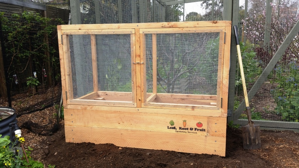 Possum and rat proof veggie cage