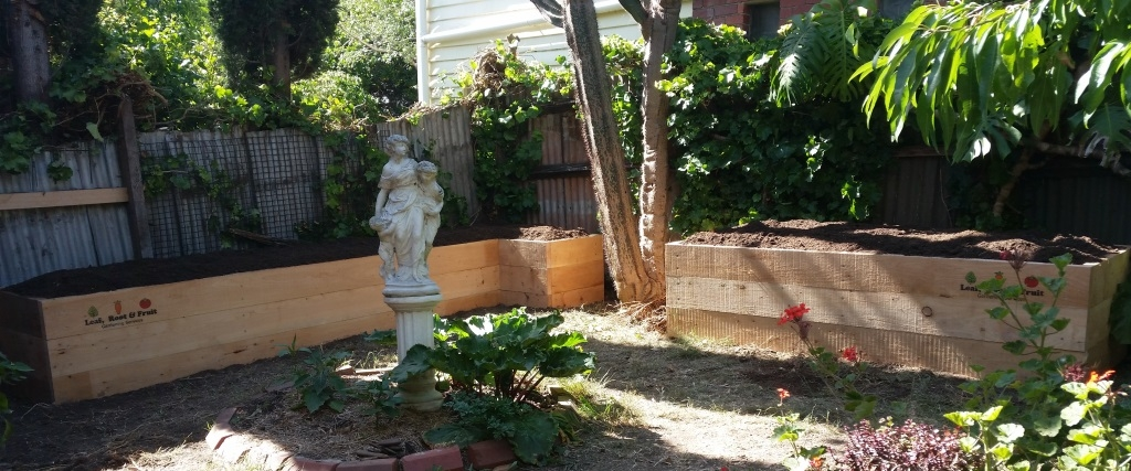 Raised Cypress Garden Bed Melbourne
